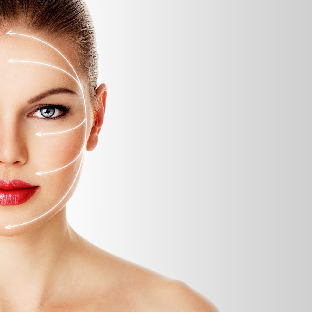 Close-up of woman's face ready for rejuvenation treatment